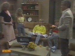 Madge Ramsay, Charlene Robinson, Scott Robinson, Henry Ramsay, Lou Carpenter in Neighbours Episode 0694