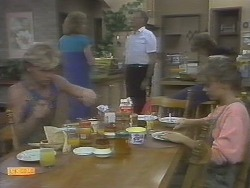 Scott Robinson, Madge Ramsay, Harold Bishop, Henry Ramsay, Charlene Robinson in Neighbours Episode 0694