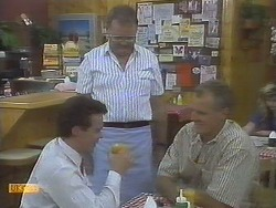 Paul Robinson, Harold Bishop, Jim Robinson in Neighbours Episode 0694