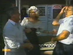 Lou Carpenter, Madge Ramsay, Harold Bishop in Neighbours Episode 0696