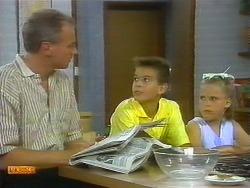 Jim Robinson, Todd Landers, Katie Landers in Neighbours Episode 0696