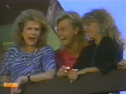 Madge Bishop, Scott Robinson, Charlene Mitchell in Neighbours Episode 0697