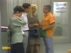 Gail Robinson, Paul Robinson, Crystal, Lou Carpenter in Neighbours Episode 0697