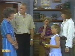 Nell Mangel, Jim Robinson, Helen Daniels, Katie Landers, Beverly Robinson in Neighbours Episode 0697