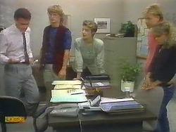 Paul Robinson, Henry Ramsay, Gail Robinson, Scott Robinson, Charlene Mitchell in Neighbours Episode 0697