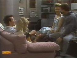 Tony Romeo, Jane Harris, Gail Robinson, Paul Robinson in Neighbours Episode 0698