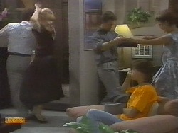 Tony Romeo, Jane Harris, Paul Robinson, Mike Young, Gail Robinson in Neighbours Episode 0698