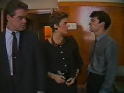 Paul Robinson, Gail Robinson, Ted Regan in Neighbours Episode 0700