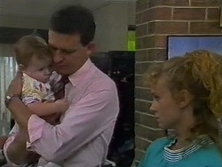Jamie Clarke, Des Clarke, Sally Wells in Neighbours Episode 0700