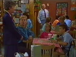 Nell Mangel, Scott Robinson, Harold Bishop, Katie Landers, Todd Landers in Neighbours Episode 0703