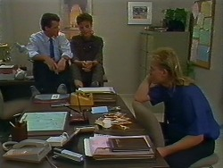 Paul Robinson, Gail Robinson, Scott Robinson in Neighbours Episode 0705