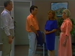 Jim Robinson, Tony Romeo, Sally Wells, Helen Daniels in Neighbours Episode 0705