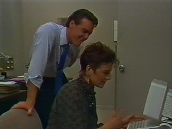 Paul Robinson, Gail Robinson in Neighbours Episode 0705