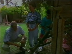Jim Robinson, Lucy Robinson, Todd Landers in Neighbours Episode 0707