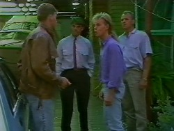 Jeff Garrett, Ross Warner, Scott Robinson, Jim Robinson in Neighbours Episode 0707