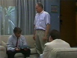 Ross Warner, Jim Robinson, Paul Robinson in Neighbours Episode 0708