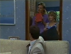 Paul Robinson, Scott Robinson, Charlene Mitchell in Neighbours Episode 0708