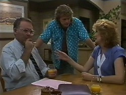 Harold Bishop, Henry Ramsay, Madge Ramsay in Neighbours Episode 0709