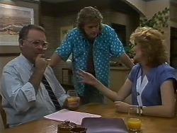 Harold Bishop, Henry Ramsay, Madge Ramsay in Neighbours Episode 0709