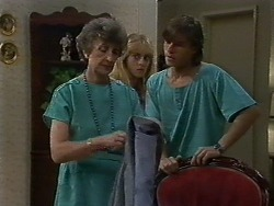 Nell Mangel, Jane Harris, Mike Young in Neighbours Episode 0709
