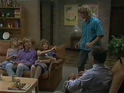 Charlene Robinson, Scott Robinson, Madge Ramsay, Henry Ramsay, Harold Bishop in Neighbours Episode 0709