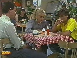 Des Clarke, Jane Harris, Mike Young in Neighbours Episode 0710