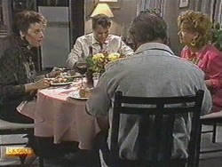 Gail Robinson, Paul Robinson, Rob Lewis, Gloria Lewis in Neighbours Episode 0711