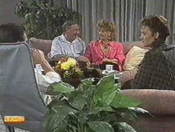 Paul Robinson, Rob Lewis, Gloria Lewis, Gail Robinson in Neighbours Episode 0711