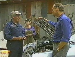 Rob Lewis, Charlene Mitchell, Jim Robinson in Neighbours Episode 0712