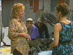Gloria Lewis, Charlene Mitchell, Rob Lewis, Gail Robinson in Neighbours Episode 0712