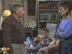 Rob Lewis, Paul Robinson, Gail Robinson in Neighbours Episode 0713