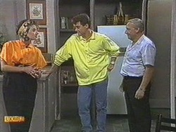 Gail Robinson, Paul Robinson, Rob Lewis in Neighbours Episode 0713