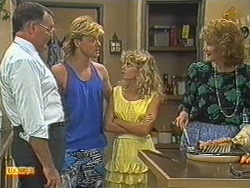 Harold Bishop, Scott Robinson, Charlene Mitchell, Madge Bishop in Neighbours Episode 0714