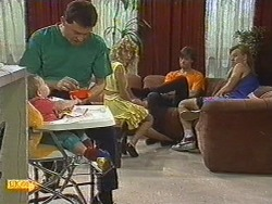 Jamie Clarke, Des Clarke, Charlene Mitchell, Mike Young, Scott Robinson in Neighbours Episode 0714