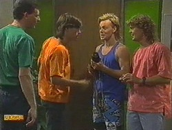 Des Clarke, Mike Young, Scott Robinson, Henry Ramsay in Neighbours Episode 0714