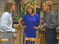 Henry Ramsay, Madge Bishop, Scott Robinson in Neighbours Episode 0715