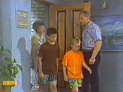 Nell Mangel, Todd Landers, Katie Landers, Jim Robinson in Neighbours Episode 0715