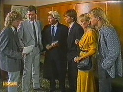 Henry Ramsay, Des Clarke, Mr. Randall, Mike Young, Jane Harris, Scott Robinson in Neighbours Episode 0715