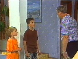 Katie Landers, Todd Landers, Jim Robinson in Neighbours Episode 0715