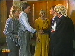 Scott Robinson, Des Clarke, Jane Harris, Mike Young, Mr. Randall in Neighbours Episode 0715