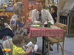 Jamie Clarke, Helen Daniels, Harold Bishop in Neighbours Episode 0716