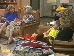 Madge Bishop, Helen Daniels, Jamie Clarke, Charlene Mitchell in Neighbours Episode 0716