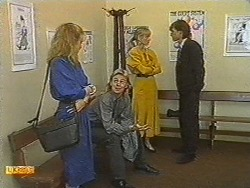 Sally Wells, Scott Robinson, Jane Harris, Mike Young in Neighbours Episode 0716