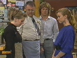 Melanie Pearson, Harold Bishop, Henry Ramsay, Sally Wells in Neighbours Episode 0717