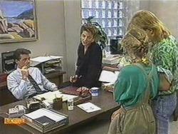 Paul Robinson, Gail Robinson, Charlene Mitchell, Scott Robinson in Neighbours Episode 0718