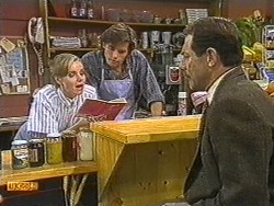 Sally Wells, Mike Young, Malcolm Clarke in Neighbours Episode 0720