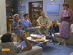 Paul Robinson, Helen Daniels, Gail Robinson, Jim Robinson, Jane Harris, Nell Mangel in Neighbours Episode 0720