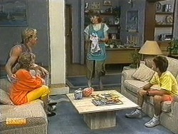Scott Robinson, Charlene Robinson, Beverly Robinson, Todd Landers in Neighbours Episode 0722