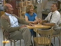 Reverend Sampson, Madge Bishop, Harold Bishop in Neighbours Episode 0722
