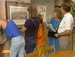Scott Robinson, Henry Ramsay, Charlene Robinson, Madge Ramsay, Harold Bishop in Neighbours Episode 0722